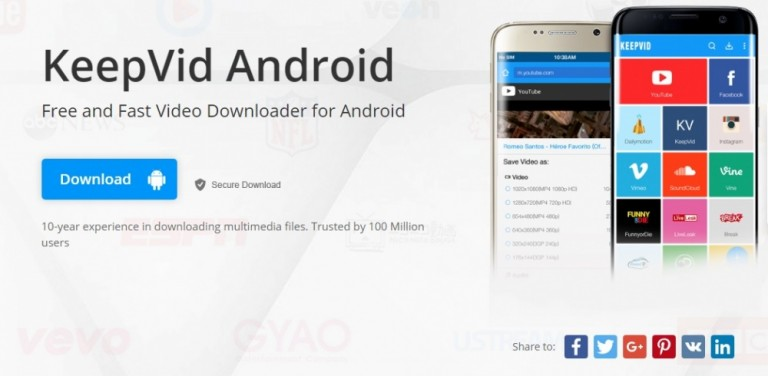 phần mềm tải video trên youtube cho android