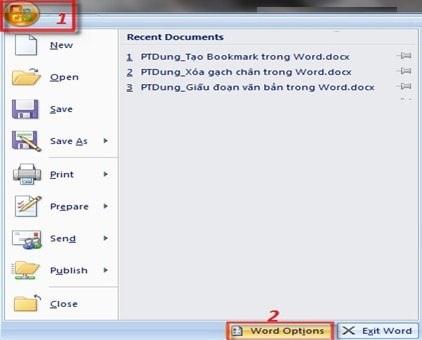 cách bỏ dấu gạch đỏ trong word 2007