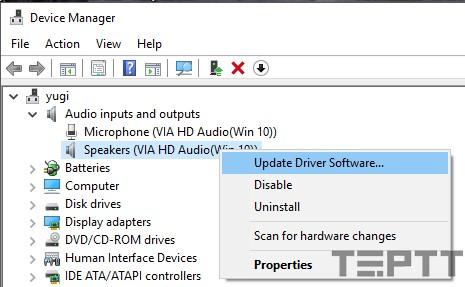 máy tính không nhận tai nghe